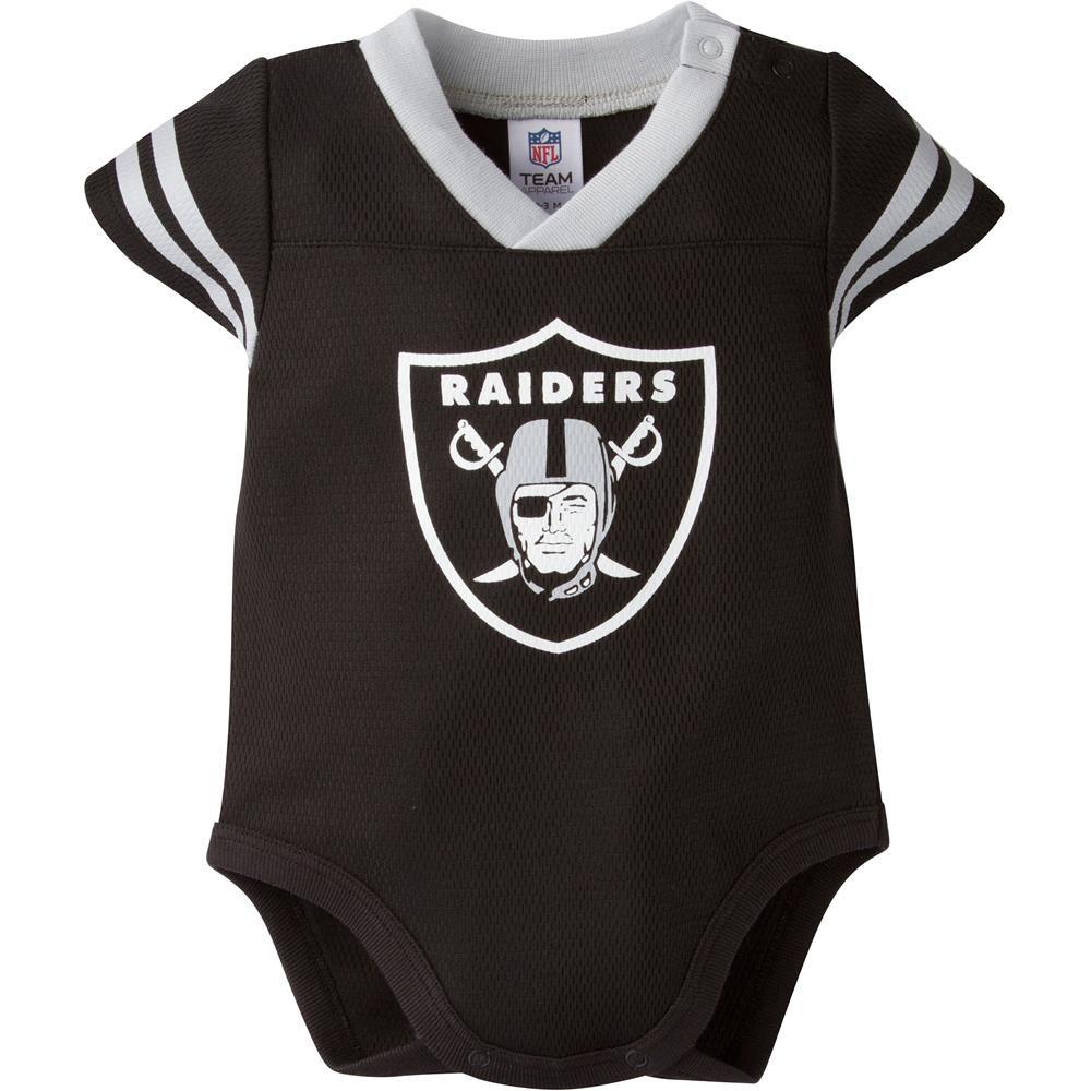 raiders jersey onesie