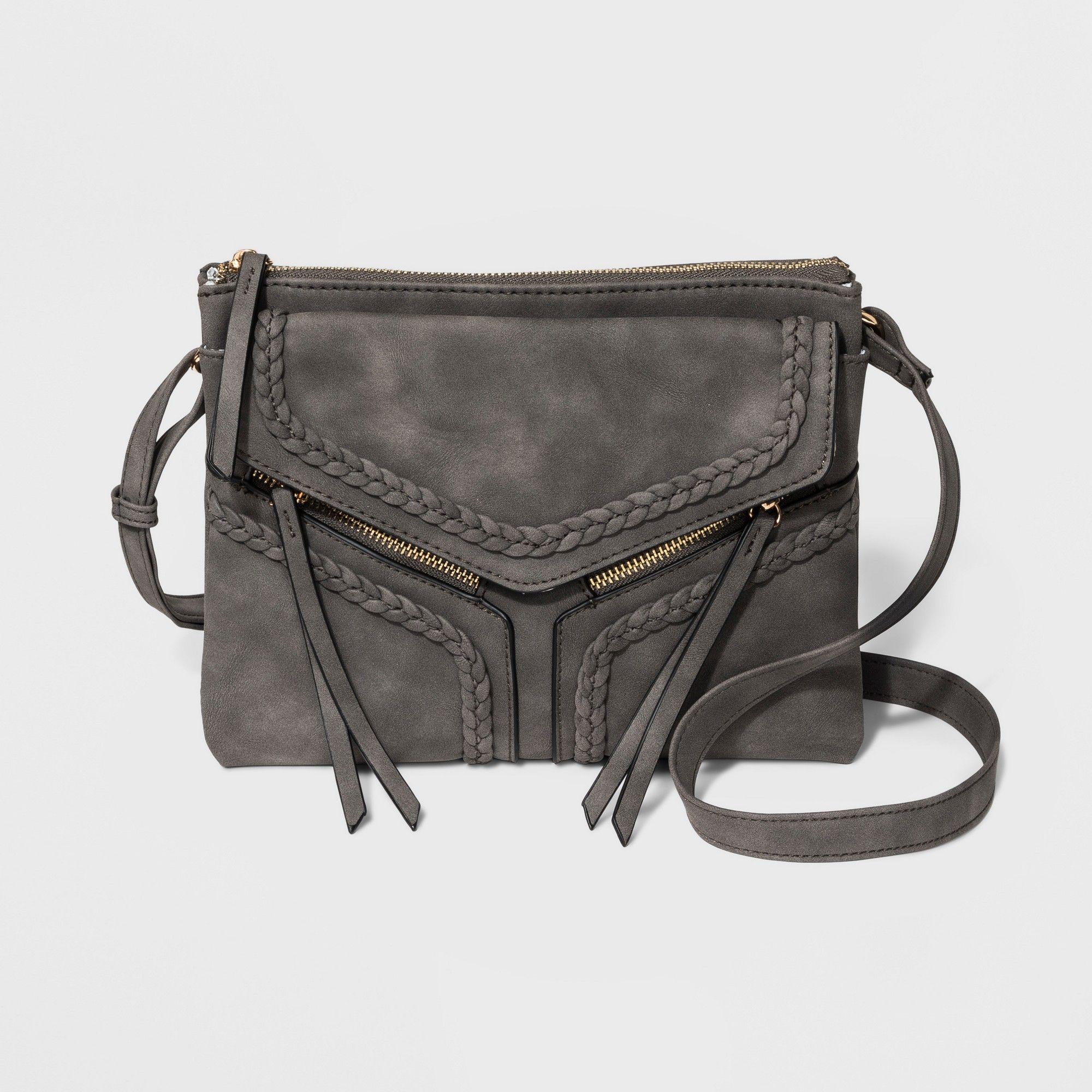05e877cd3e83 Violet Ray Braided Trims Leanna Crossbody Bag - Gray