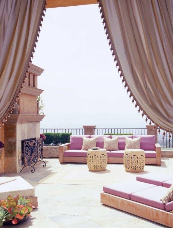 romantische dachterrassengestaltung im orientalischen stil, Hause und garten