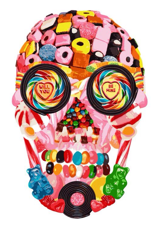 Candy skull re imagined