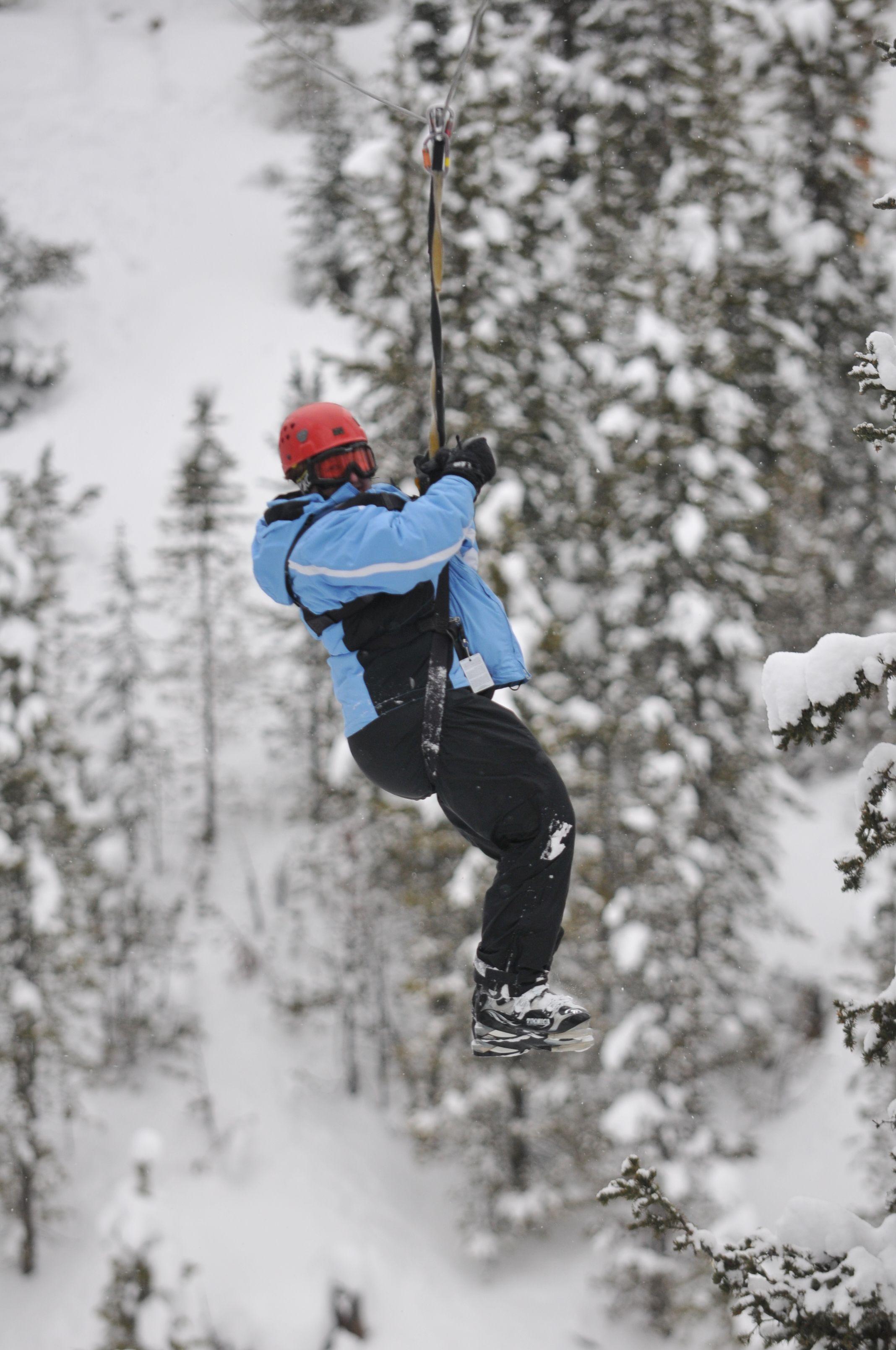 Zip Lining In Big Sky Montana What A Blast Winter Boots Big Sky