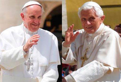 Papa Francisco visita a Benedicto XVI por Navidad