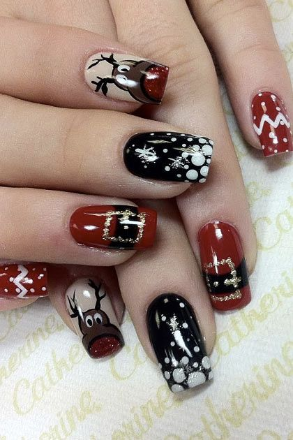 The Christmas Edit Christmas Nail Designs Xmas Nails Winter