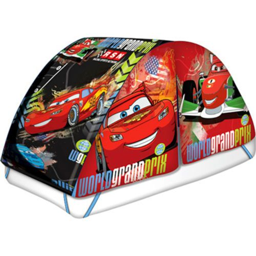 disney cars 2 lightning mcqueen world grand prix twin bed tent w push light new bed tents for. Black Bedroom Furniture Sets. Home Design Ideas