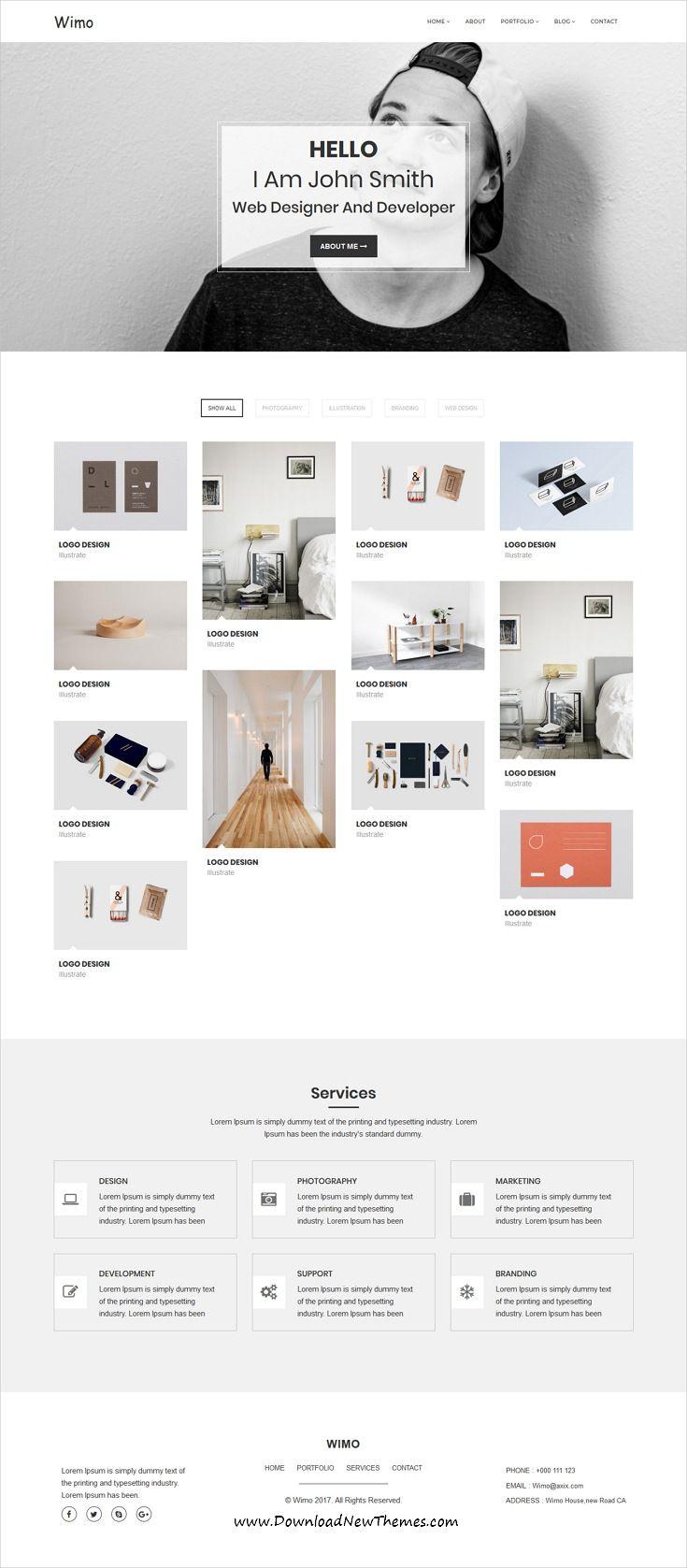 Wimo - Minimal Portfolio Template | Minimal, Template and Creative ...