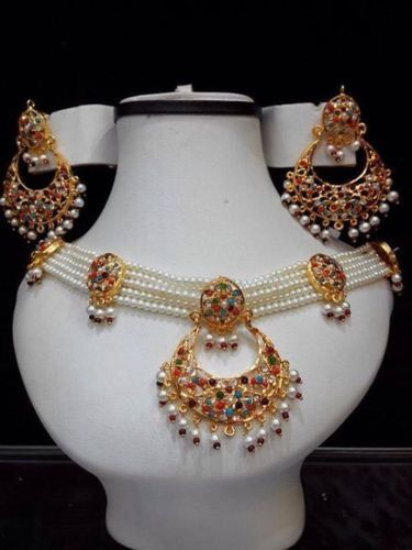 Special Offer Indian Pakistani Jewellery White Pearl Set With