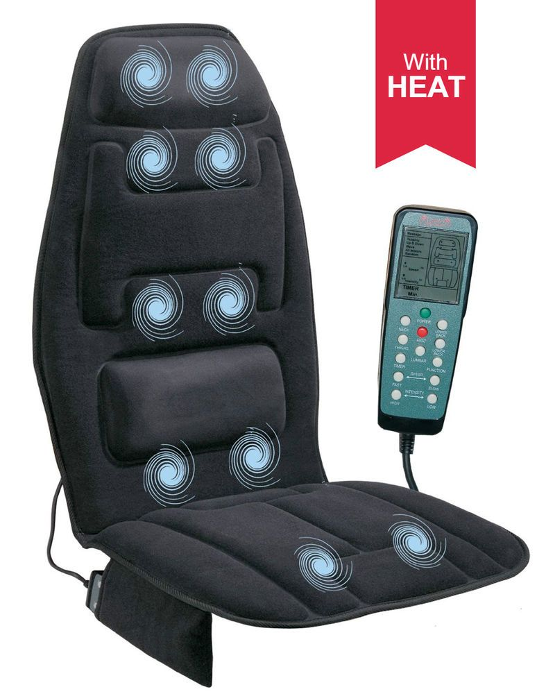 Heated Electric Massage Seat Cushion With Heat Home Office Car