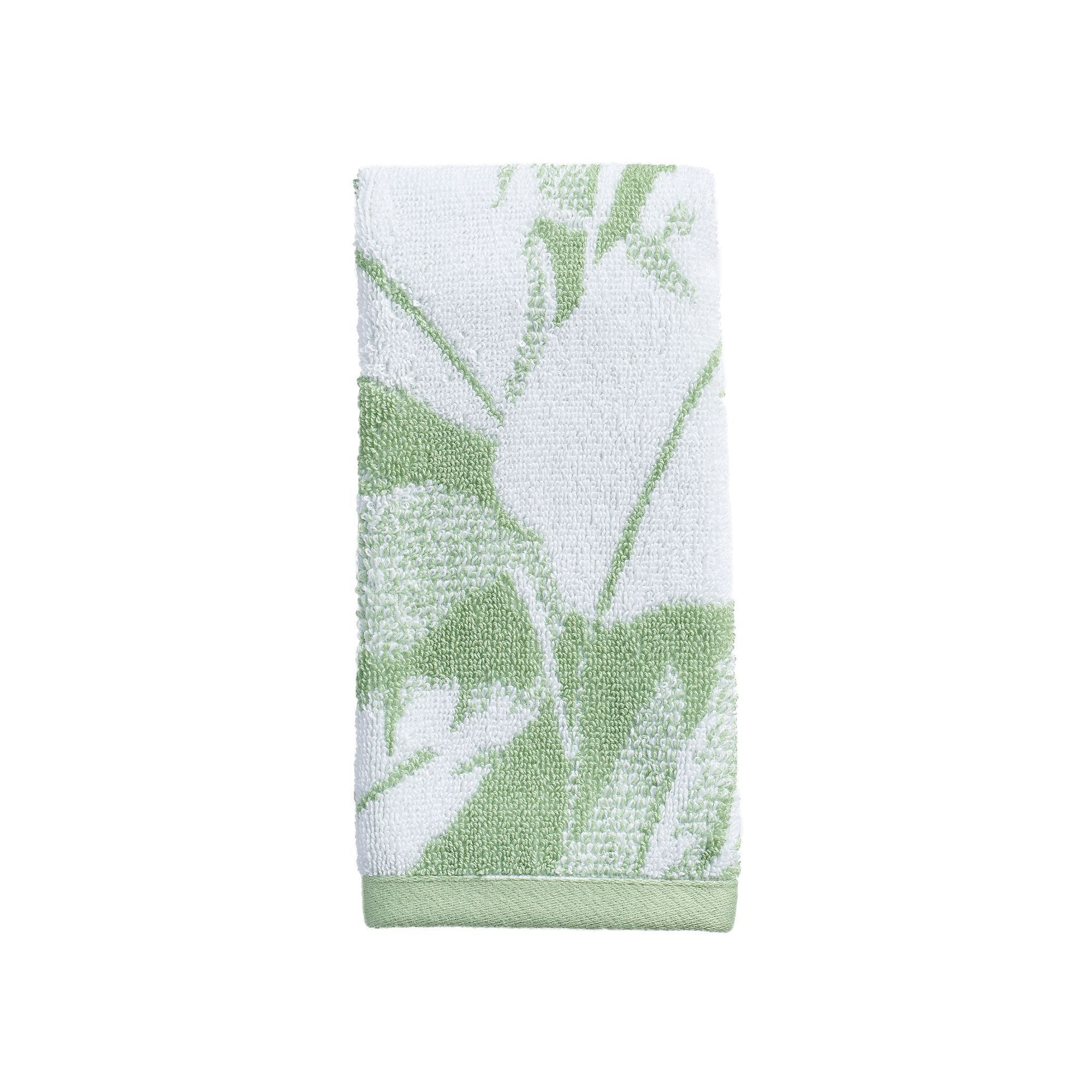 Destinations miami leaf fingertip towel miami towels and leaves