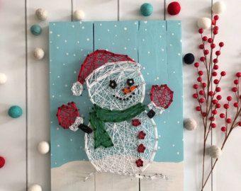 Christmas string art decoration string art holiday by - String art vorlagen kostenlos ...