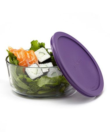 Another great find on #zulily! Eggplant 7-Cup Round Storage Container & TrueSeal Lid #zulilyfinds