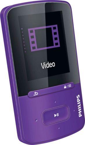 Philips Gogear Vibe 4gb Mp3 Mp4 Player Purple