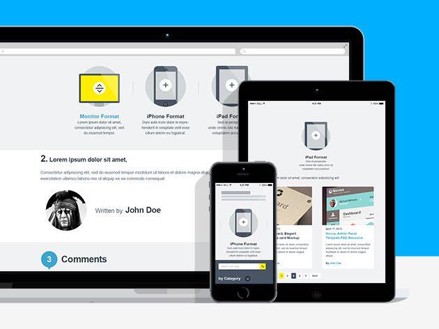 Learn Responsive Web Design Business Insider Website Mockup Website Mockup Psd Free Free Mockup