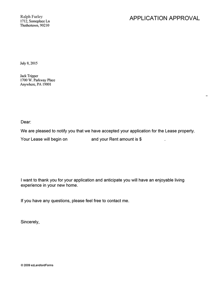 decline rental application letter Save time writing your application rejection letter, or email, with this all-purpose template just copy, paste, and customize for your specific needs.
