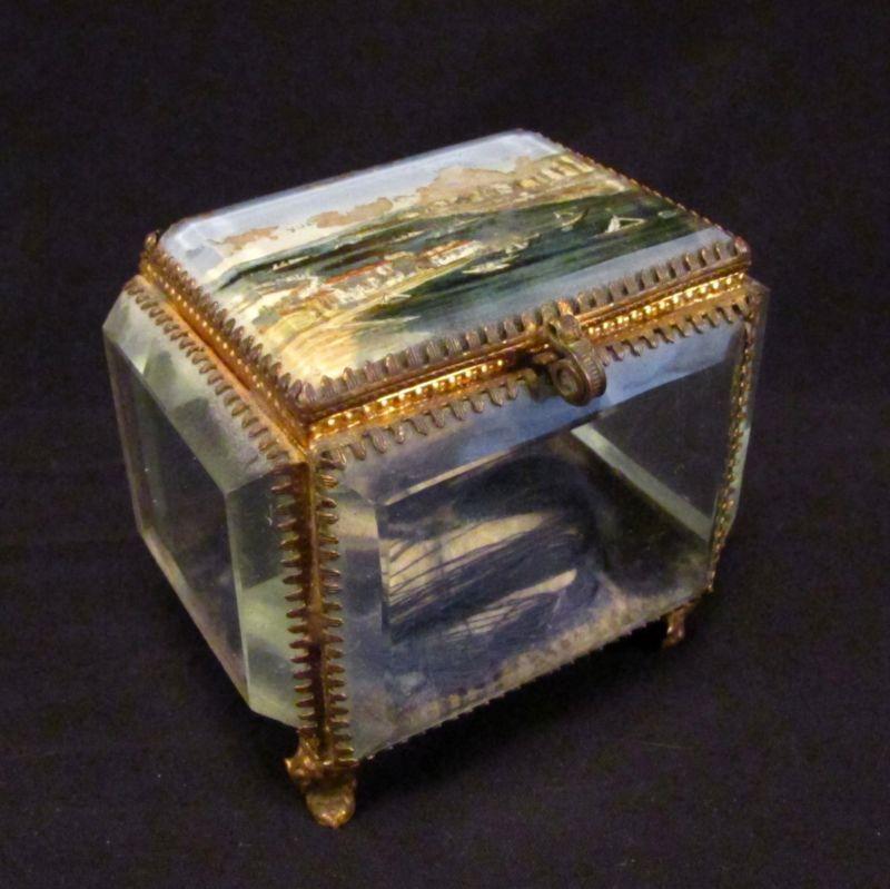 ancienne boite bijoux verre biseaut xix me mariage pinterest verre biseaut biseaut. Black Bedroom Furniture Sets. Home Design Ideas
