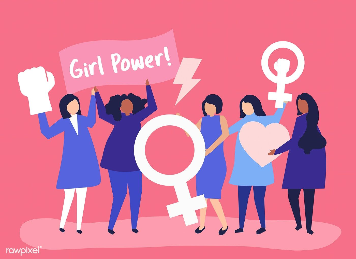Feminists Supporting Gender Equality With A Peaceful Rally Free Image By Rawpixel Com Aum Gender Equality Equality Feminist