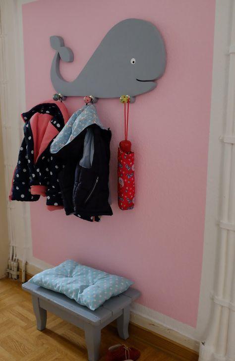 fuchsgestreift diy wal kindergarderobe aus holz diy idee pinterest babies kidsroom and. Black Bedroom Furniture Sets. Home Design Ideas