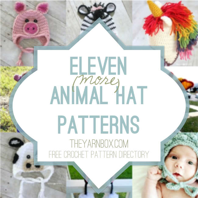 Eleven Animal Hat Crochet Patterns | Crochet | Pinterest | Gorros ...