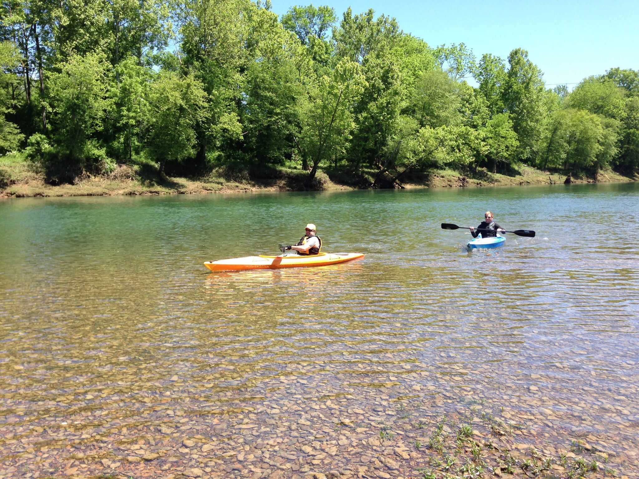 Shallow waters on the Cumberland river 2013