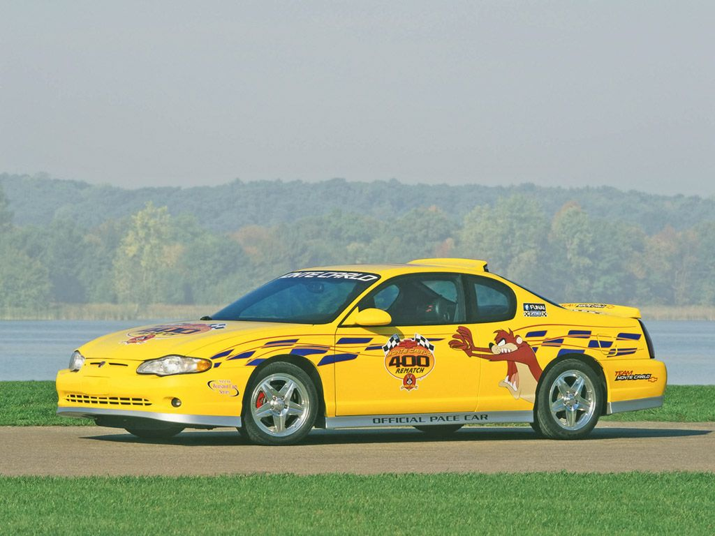 2002 Chevrolet Monte Carlo Pace Car Front Angle 1024x768 Wallpaper Chevrolet Monte Carlo Monte Carlo Chevrolet