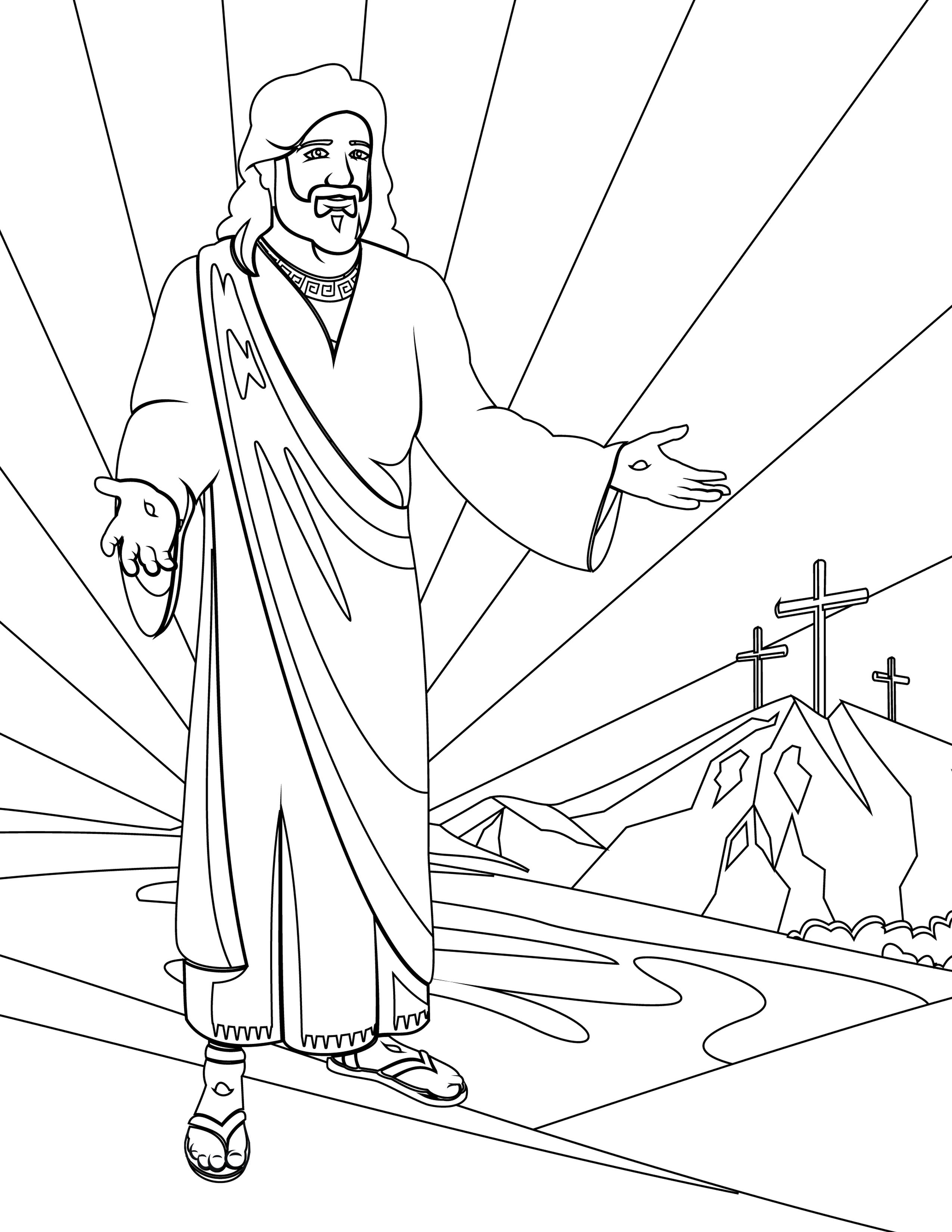 Printable resurrection picture for preschool starlight bible story