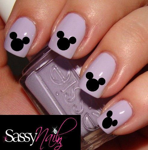 Mickey Mouse Nail Art | Mickey Mouse Disney Head nail art decal water  transfer wrap not . - 1X MICKEY & MINNIE Disney Nail Decal Stickers Nails Pinterest