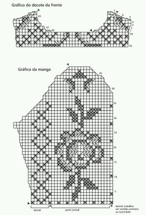 Diagrama de elegante 2 | Ropa crochet | Pinterest | Elegante, Blusas ...