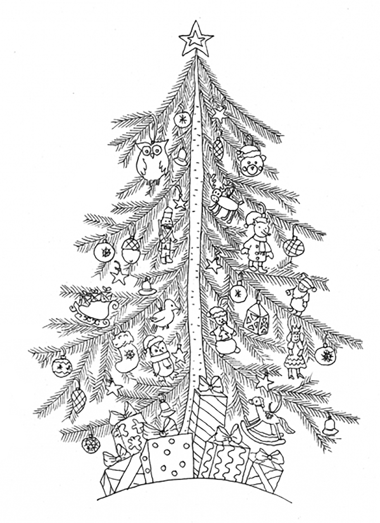 simple christmas tree from the gallery events christmas adult coloring pages printable coloring