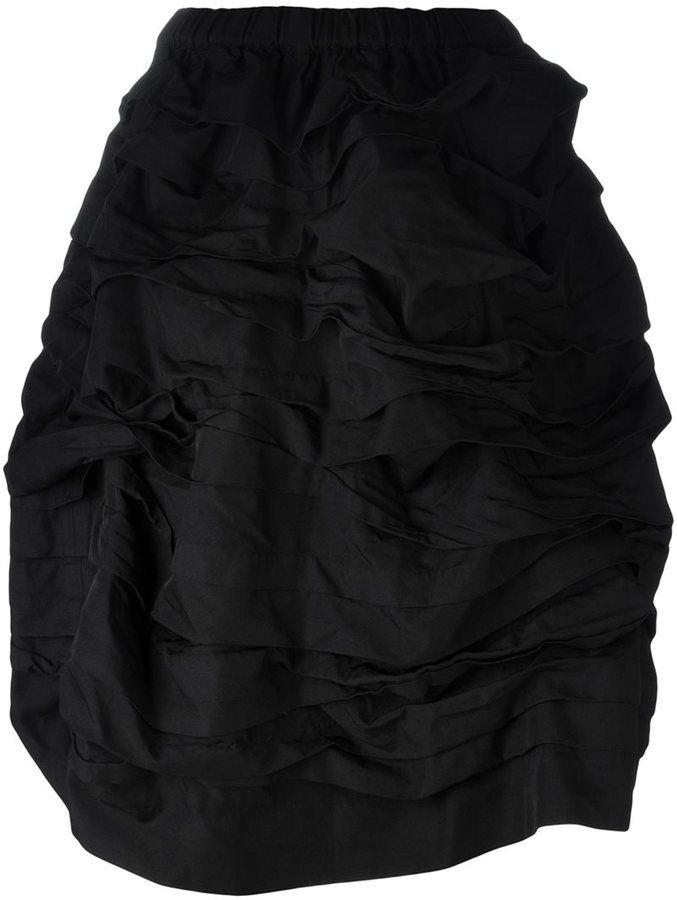 Comme Des Garçons Comme Des Garçons elastic waistband full skirt   FARFETCH saved by #ShoppingIS