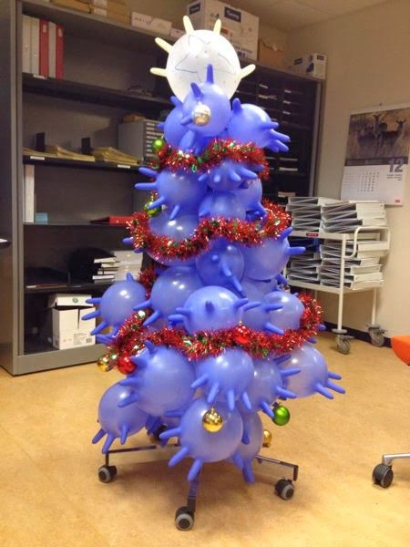 Lab Gloves Christmas Tree - Very creative artwork Pharmacy ale