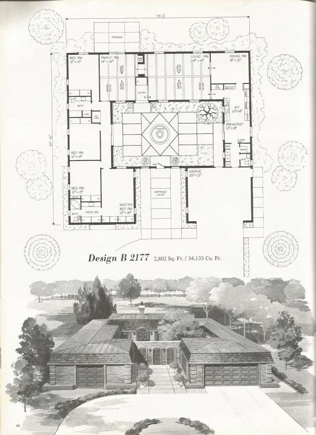 Vintage house plans, mid century homes, luxurious vintage ...
