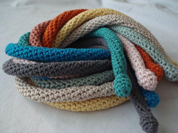 PDF Crochet Pattern Crocheted Tube Necklaces crocheted di sewella