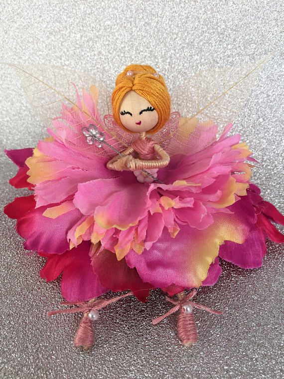 Pink fairy doll valentine flower fairy easter gift for girl pink fairy doll valentine flower fairy easter gift for girl friend unique birthday tree ornament room decor mythical doll home decor negle Images