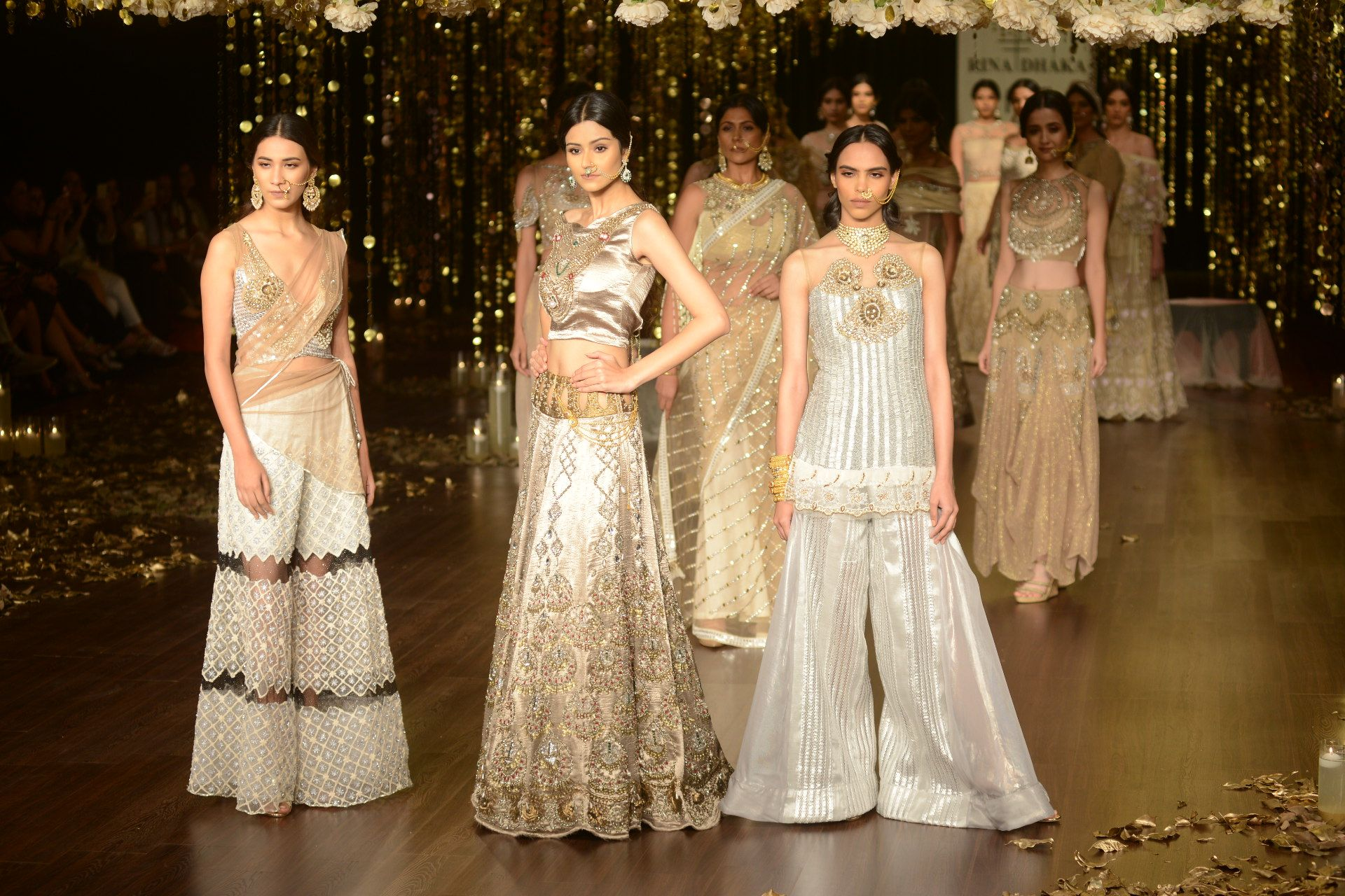 The silhouettes were graceful in their softness and sensuality the