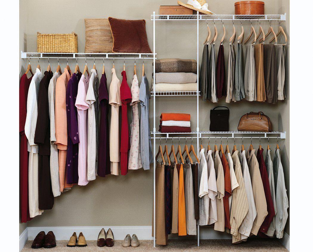Amazon Com Closetmaid 1628 Economy 5 To 8 Foot Closet Organizer