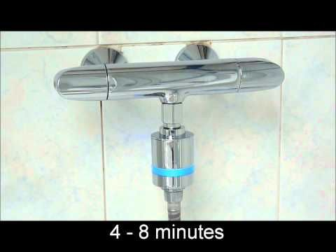 How cool is this? A water powered shower timer that fits onto shower faucet and changes colour every four minutes!