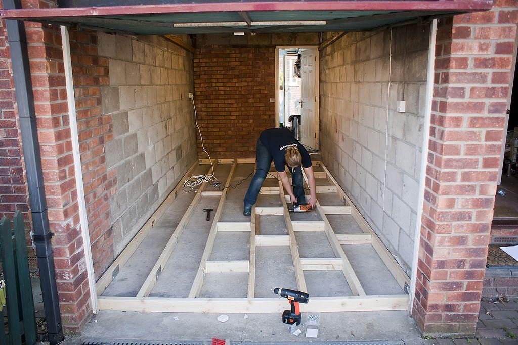 Garage Conversion - securing floor joists in 2020 | Garage ...