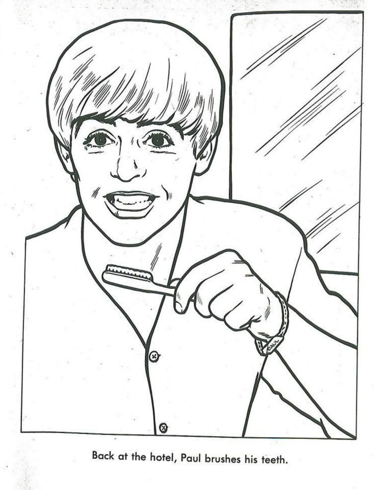 The Beatles Coloring Page 11 | Beatles Coloring Book | Pinterest ...