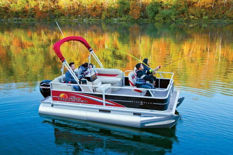 2015 Bass Buggy 16 Foot Fishing Pontoon Boat 2013 Sun Tracker