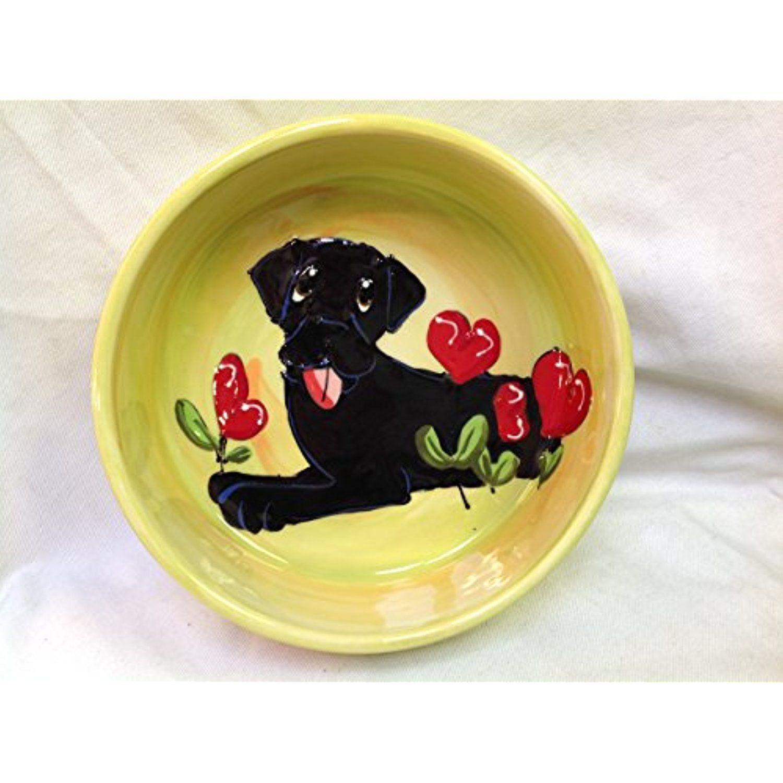 """Black Labrador Retriever 10"""" Dog Bowl for Food or Water"""