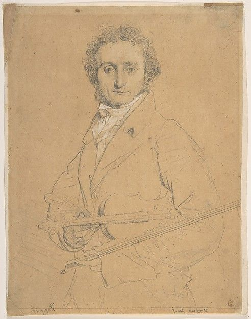 Nicolo Paganini (1784–1840) Artist: Jean Auguste Dominique Ingres (French, Montauban 1780–1867 Paris) Date: between 1818–31 Medium: Counterproof strengthened with graphite and white chalk on tracing paper