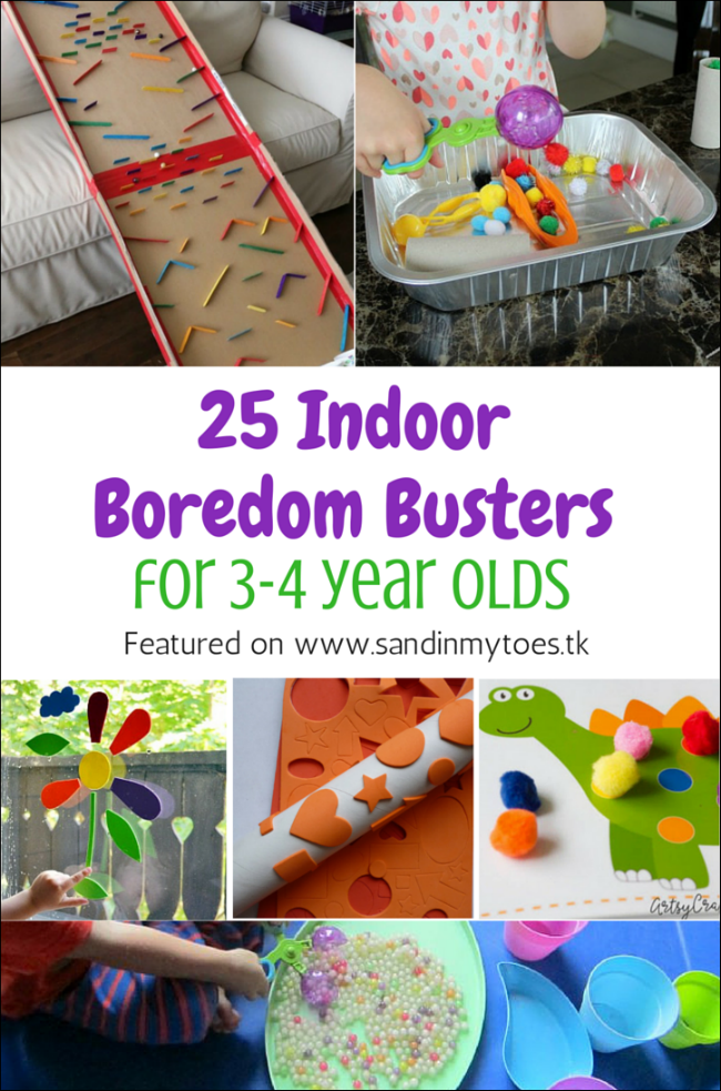 25 Indoor Boredom Busters For 3 4 Year Olds Preschool Infant