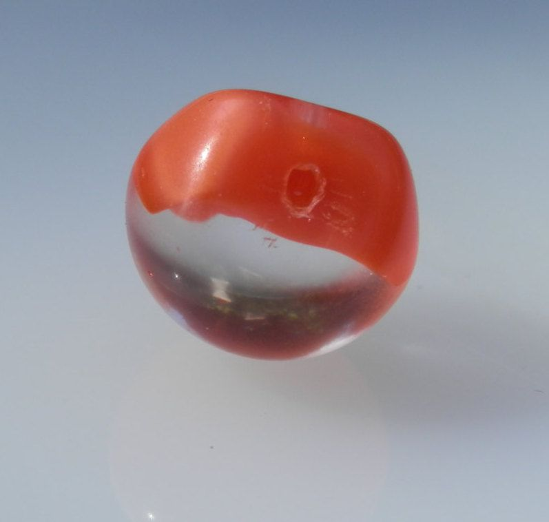 Vintage Paperweight Button Orange Glass by legacybuttons on Etsy
