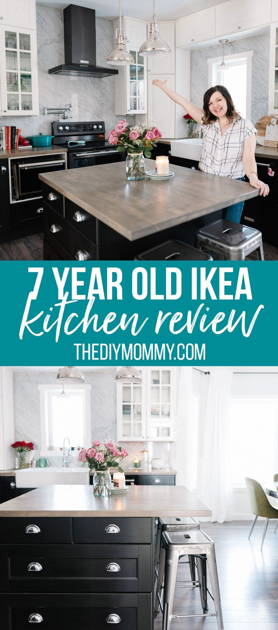 Ikea Kitchen Review 7 Years Later The Diy Mommy In 2020 Ikea Kitchen Reviews Ikea Kitchen Kitchen Inspiration Design