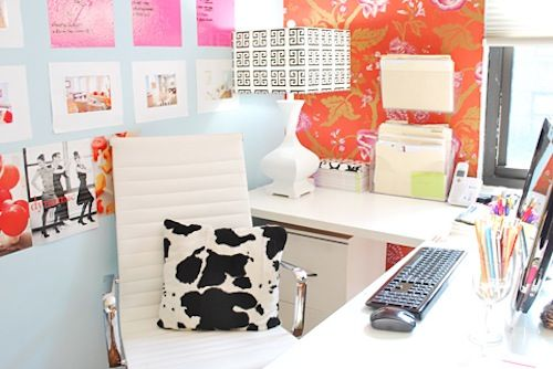 bright and colorful office!