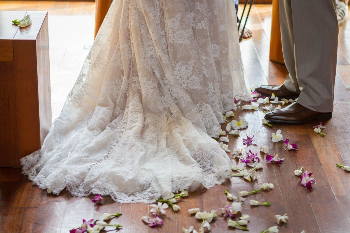 Details at the four seasons chapel bora bora wedding