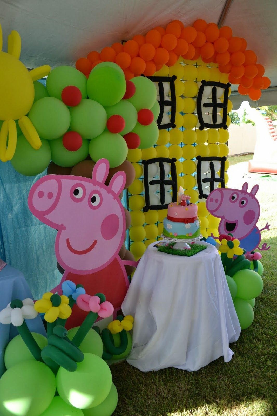architecture decorations simple decor party fresh on ideas peppa modern pig decoration and cool