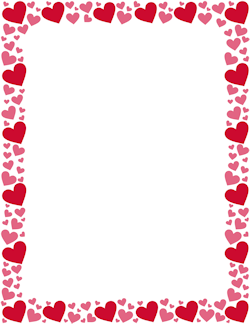 Red And Pink Heart Border Valentines Clip Heart Border Valentines Day Border