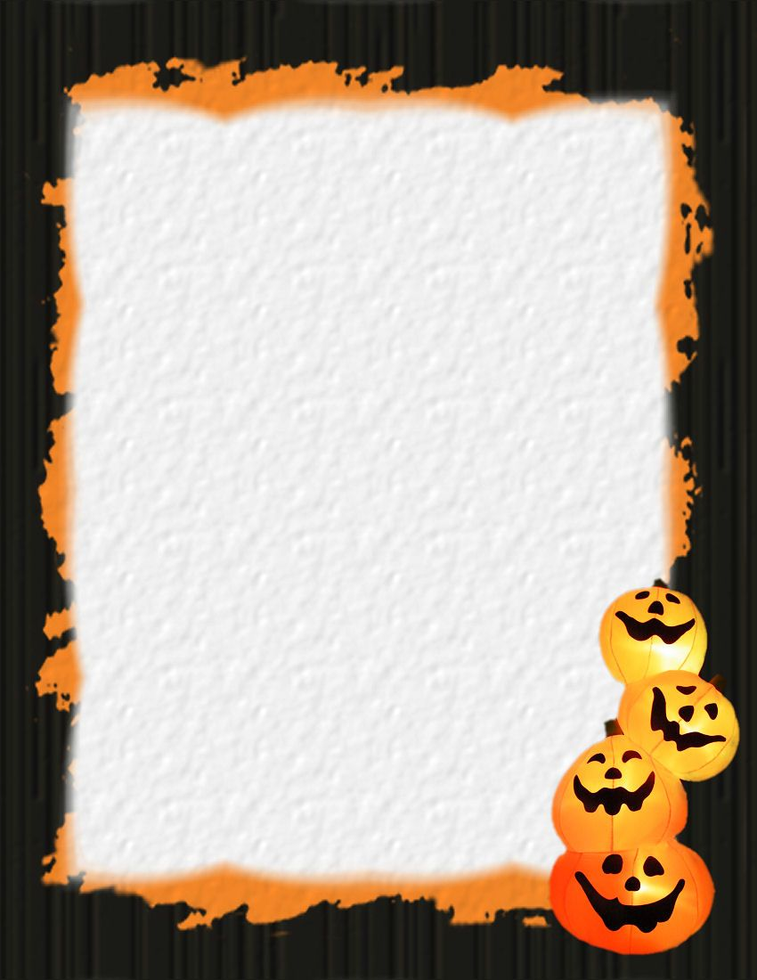 Halloween 1 free stationery template downloads for free