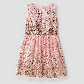 girls sequin scatter dress cat jack pink target