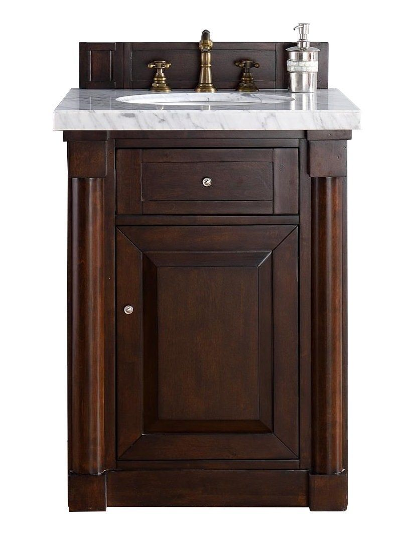 "26 Bathroom Vanity Ideas: 26"" New Haven Burnished Mahogany Single Bathroom Vanity"